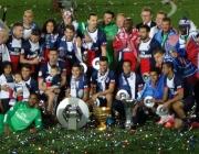 Le PSG, champion de Ligue 1, ici en mai 2014 (Philippe Agnifill/Flickr/CC)