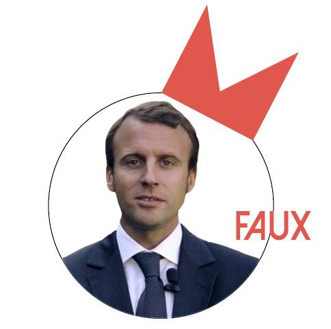 Emmanuel Macron : «Marine Le Pen veut un ordre des journalistes, ordre qui n'existe plus depuis Mussolini»